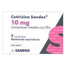 CETIRIZINA SAND*7CPR RIV 10MG